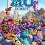 Super cute Monsters University movie poster