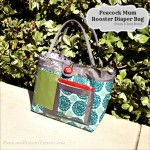 Peacock mum rooster diaper bag from 2 Red Hens for chic and stylish moms