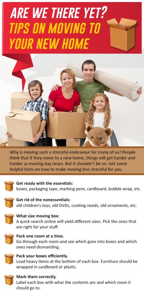 Are we there yet tips on moving to your new home