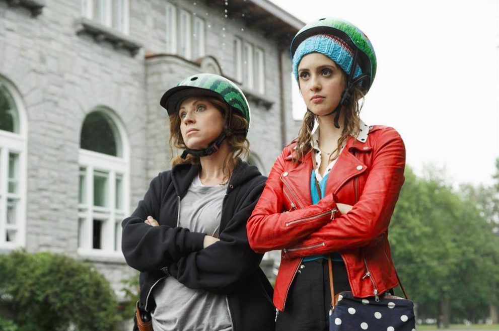 Pictured: Leigh-Allyn Baker & Laura Marano (Disney Channel/Jan Thijs)