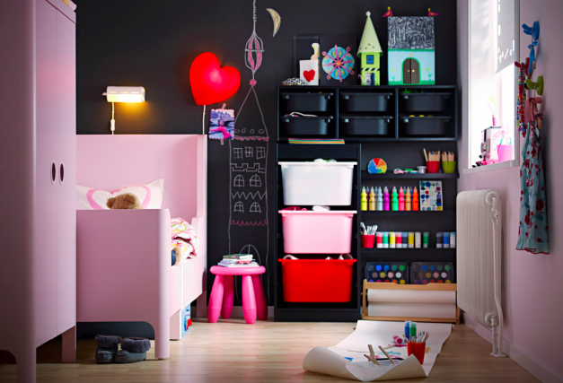 creative bedroom and art space for a child