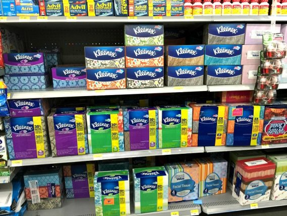 Kleenex Ultra Soft and Kleenex with Lotion facial tissues