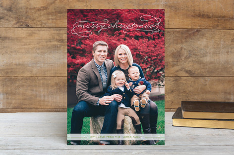 classic holiday photo cards