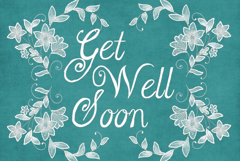 get well soon thank you card